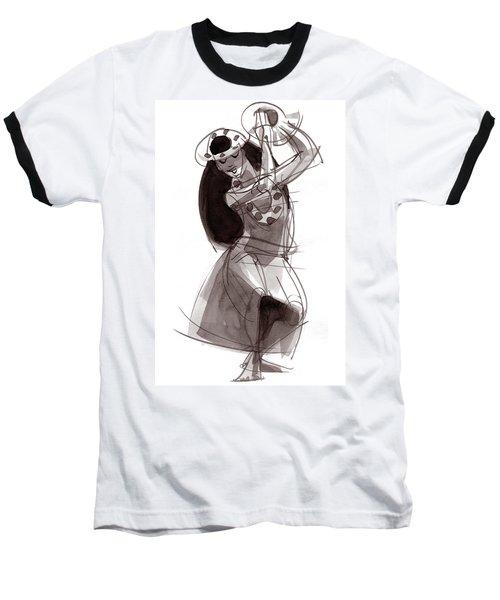 Hula Dancer Alika Baseball T-Shirt