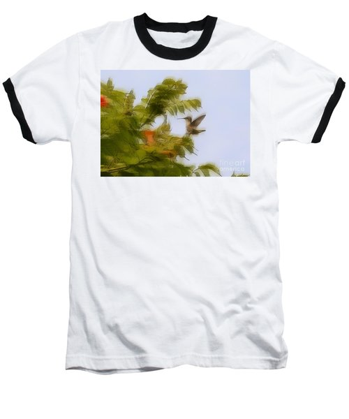 Baseball T-Shirt featuring the photograph Humbird by Robert Pearson
