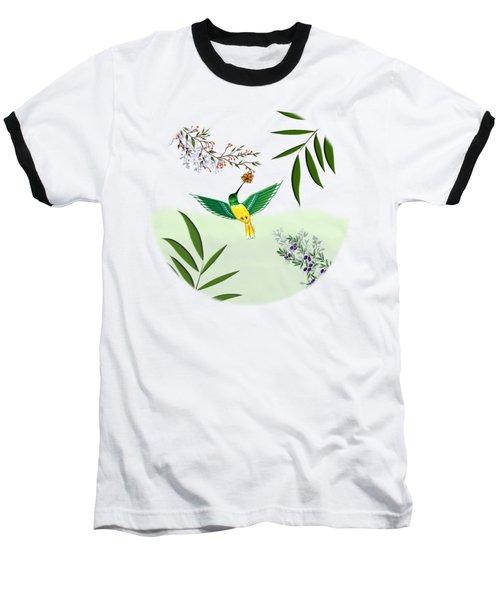 Humming Bird - Circle/clear Background Baseball T-Shirt
