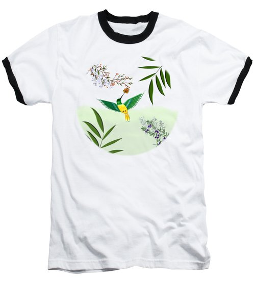 Humming Bird - Circle/clear Background Baseball T-Shirt