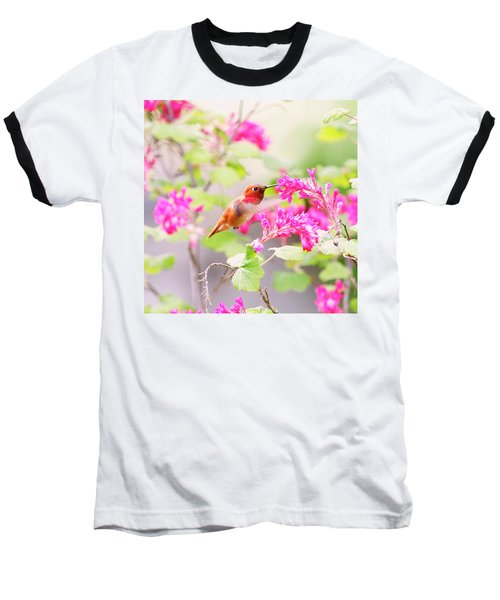 Hummingbird In Spring Baseball T-Shirt by Peggy Collins