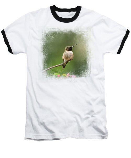 Hummingbird In The Garden Baseball T-Shirt