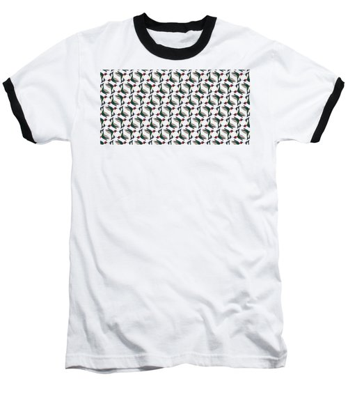 Hummingbird Pattern Baseball T-Shirt