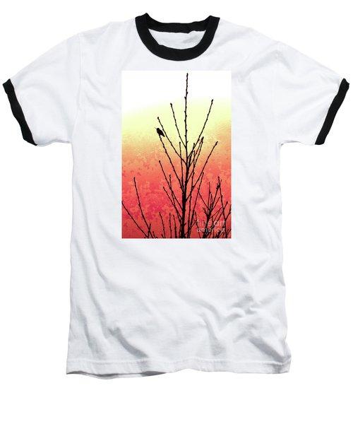 Hummingbird Peach Tree Baseball T-Shirt by Gem S Visionary