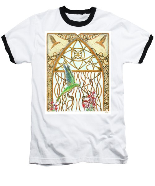 Hummingbird Sanctuary Baseball T-Shirt