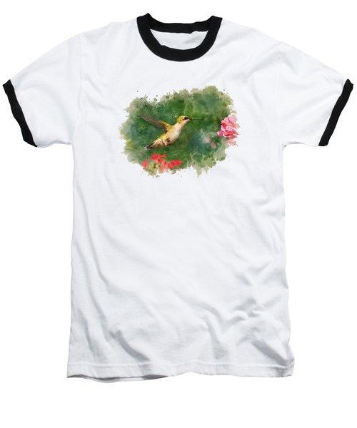 Hummingbird - Watercolor Art Baseball T-Shirt