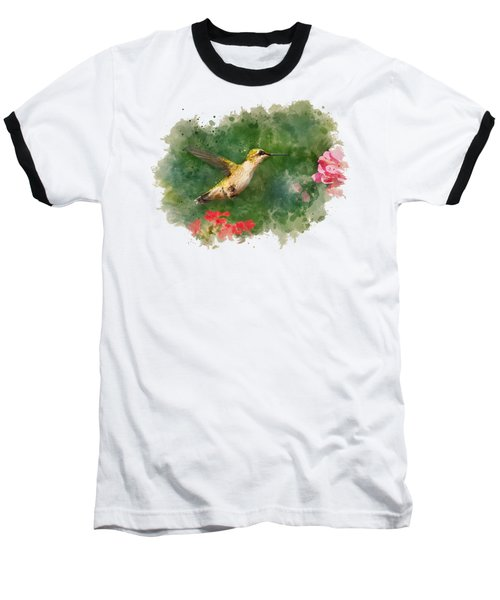 Hummingbird - Watercolor Art Baseball T-Shirt