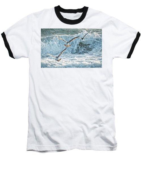 Hunting The Waves Baseball T-Shirt