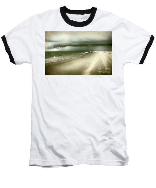 Hurricane Storm Ocracoke Island Outer Banks Baseball T-Shirt by Dan Carmichael