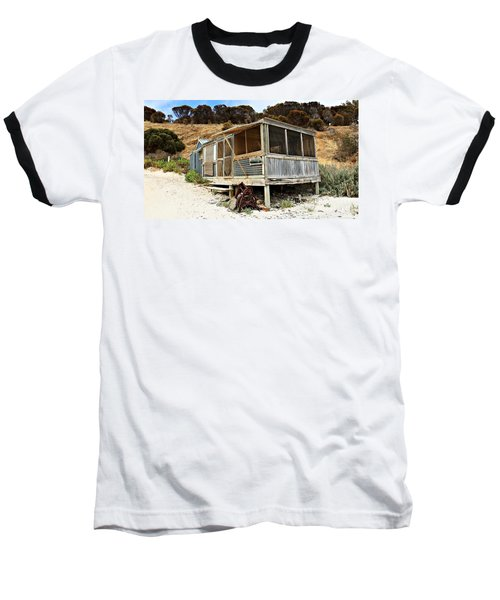Hut At Western River Cove Baseball T-Shirt by Stephen Mitchell