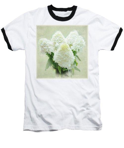 Hydrangeas Baseball T-Shirt by Geraldine Alexander