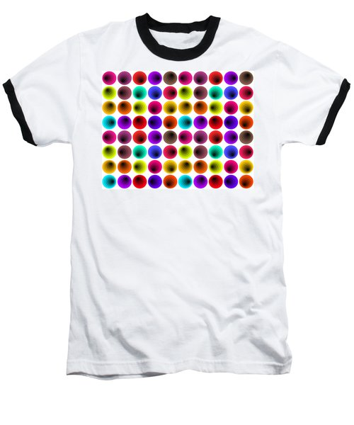 Hypnotized Optical Illusion Baseball T-Shirt by Sumit Mehndiratta