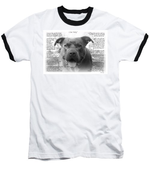 I Am Dog Baseball T-Shirt