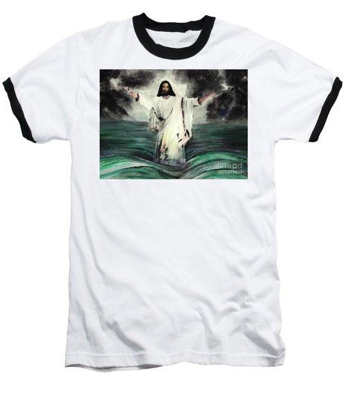 I Am Will Calm Your Sea Baseball T-Shirt by Hazel Holland