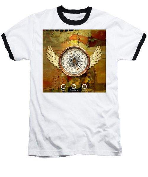Baseball T-Shirt featuring the mixed media I Believe I Can Soar by Marvin Blaine