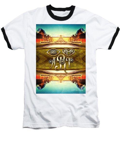 I Heart Art Louvre Museum Paris Da Vinci Gears Baseball T-Shirt