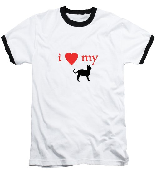 I Heart My Cat Baseball T-Shirt