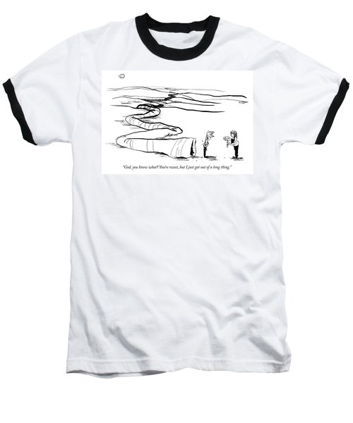 I Just Got Out Of A Long Thing Baseball T-Shirt