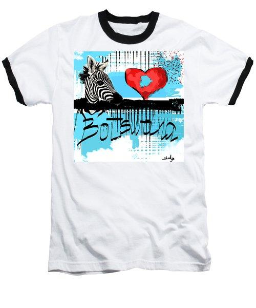 I Love Botswana  Baseball T-Shirt by Sladjana Lazarevic