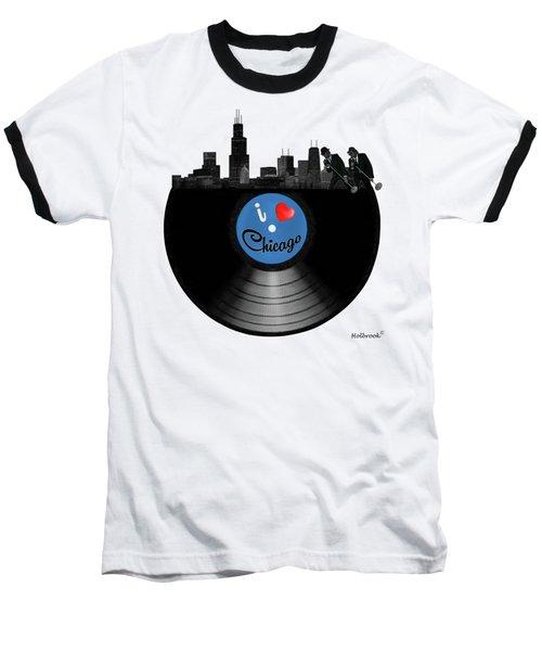 I Love Chicago Baseball T-Shirt by Glenn Holbrook