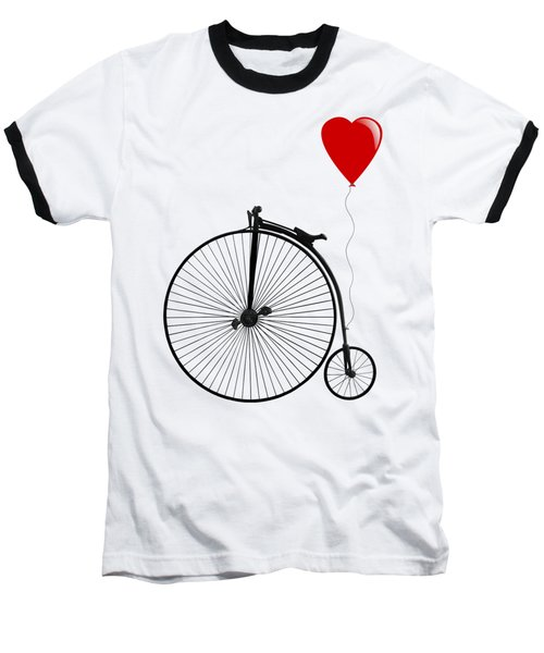 I Love Cycling Baseball T-Shirt