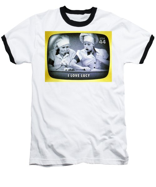 I Love Lucy Baseball T-Shirt by Lanjee Chee