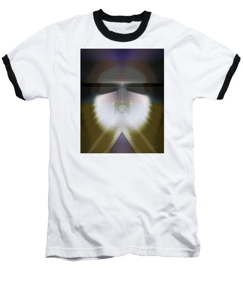 Baseball T-Shirt featuring the digital art I Wish I Was A Headlight On A Northbound Train by David Klaboe