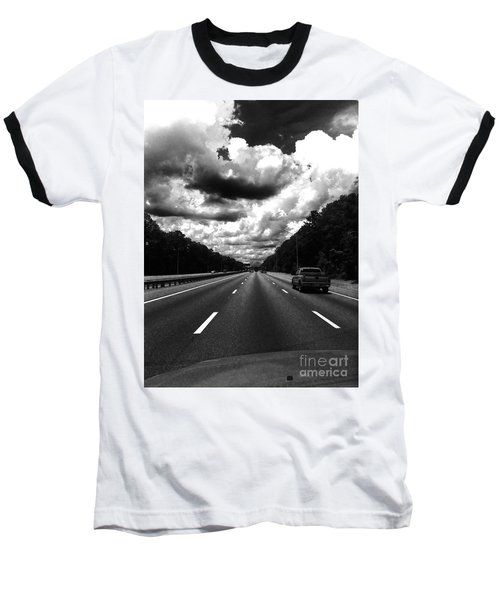 I95 Clouds Baseball T-Shirt