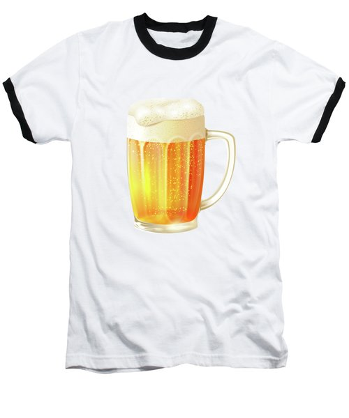 Ice Cold Beer Pattern Baseball T-Shirt