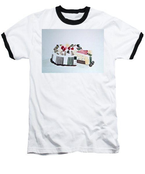 Ice Cream Cake Watercolor Baseball T-Shirt