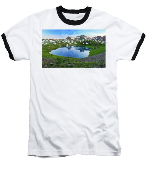 Ice Lake Panorama Baseball T-Shirt