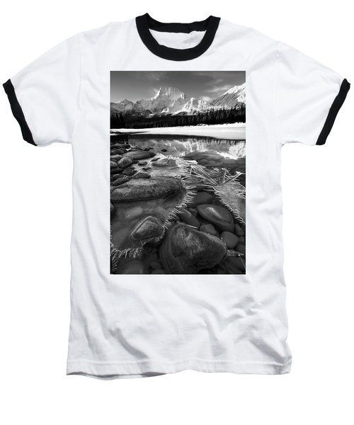 Ice On The Athabasca Baseball T-Shirt by Dan Jurak