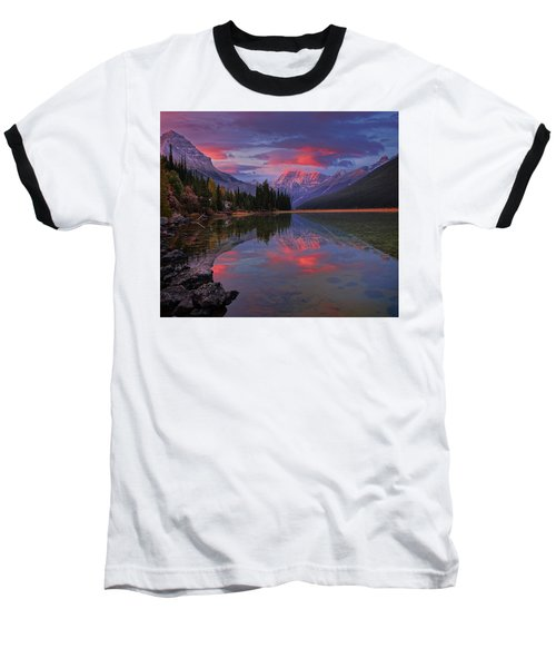 Icefields Parkway Autumn Morning Baseball T-Shirt