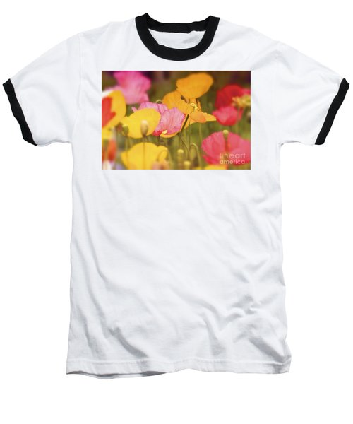 Iceland Poppies Warmly Baseball T-Shirt