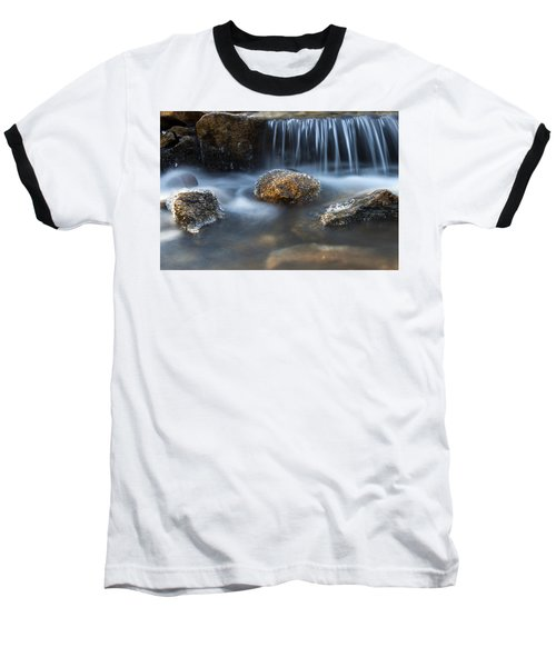 Icy Rocks On The Coxing Kill #1 Baseball T-Shirt by Jeff Severson