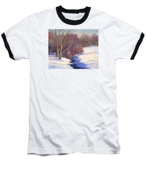 Icy Stream Baseball T-Shirt by Vikki Bouffard