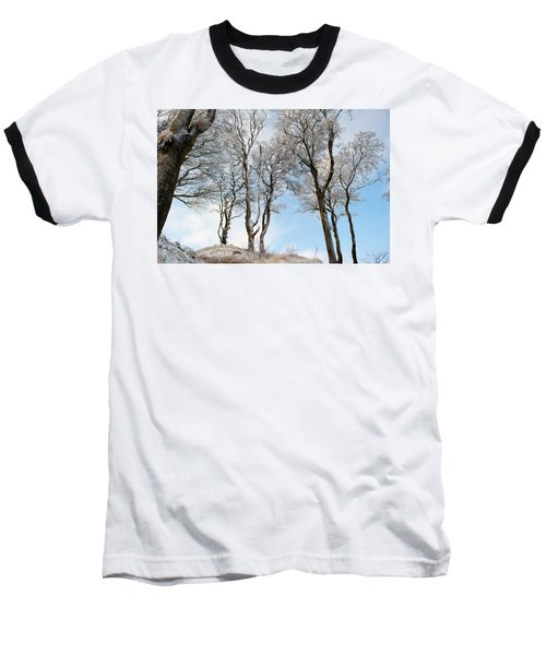 Icy Trees Baseball T-Shirt