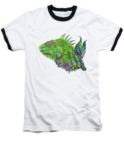 Iguana Cool Baseball T-Shirt