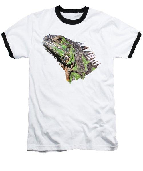 Baseball T-Shirt featuring the photograph Iguana by Shane Bechler
