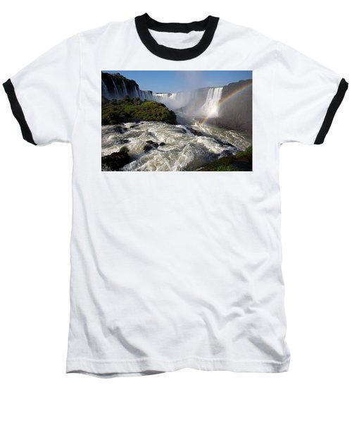Iguassu Falls With Rainbow Baseball T-Shirt