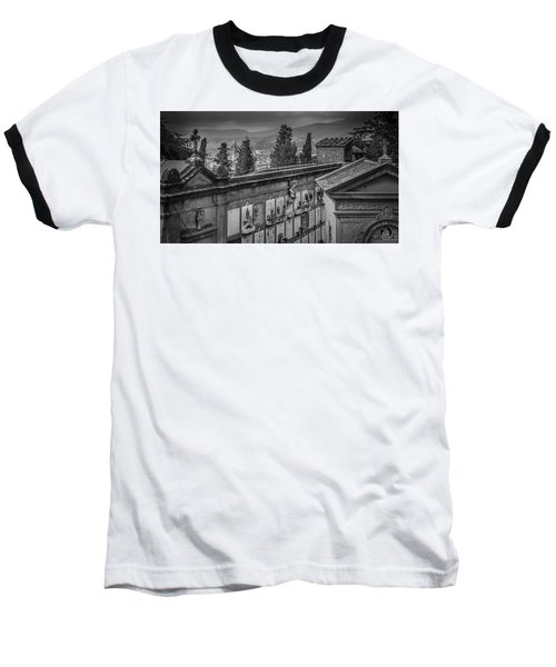 Baseball T-Shirt featuring the photograph Il Cimitero E Il Duomo by Sonny Marcyan