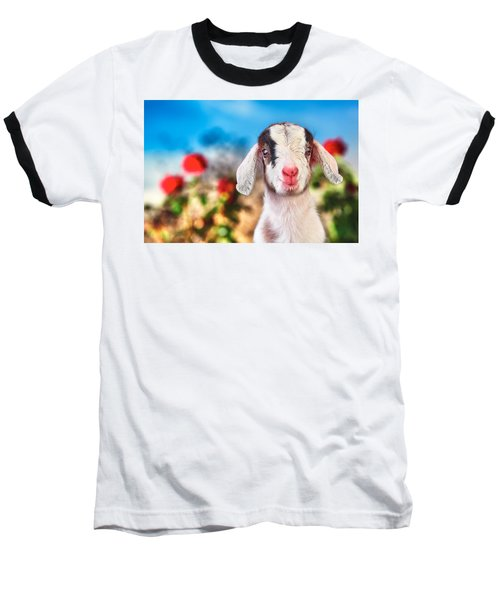 I'm In The Rose Garden Baseball T-Shirt by TC Morgan