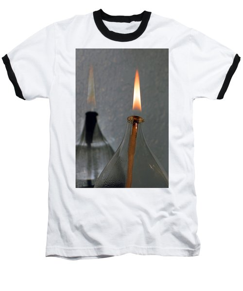 Impossible Shadow Oil Lamp Baseball T-Shirt by Jana Russon