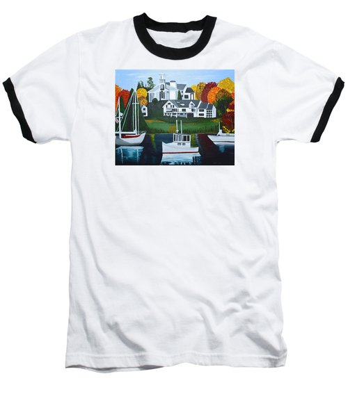 Impressions Of New England Two Baseball T-Shirt by Donna Blossom