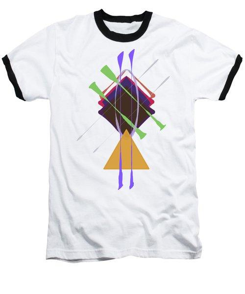 Improvised Geometry #3 Baseball T-Shirt