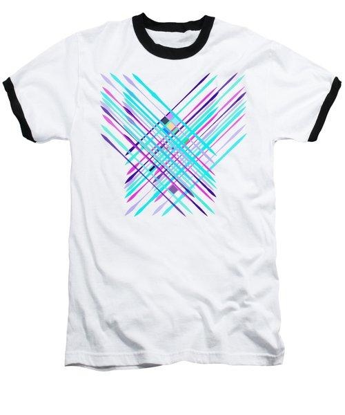 Improvised Geometry #2 Baseball T-Shirt