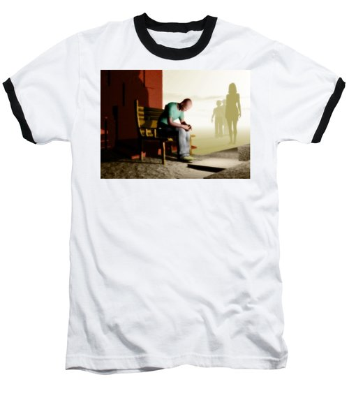 In A Fog Of Isolation Baseball T-Shirt by John Alexander