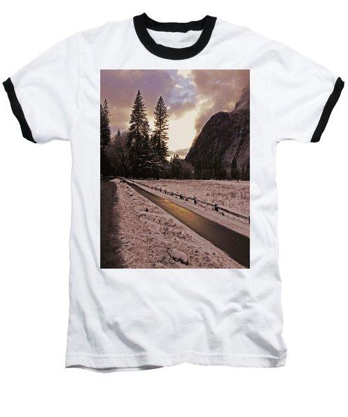 In Between Snow Falls Baseball T-Shirt