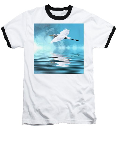 In Flight Baseball T-Shirt by Cyndy Doty