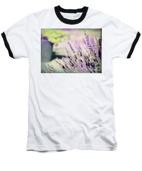 Baseball T-Shirt featuring the photograph In Love With Lavender by Kerri Farley